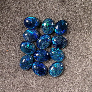 cobalt blue opal triplets OT-12