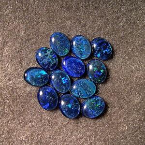 cobalt blue triplet opals OT-14